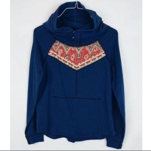 We The Free People Paisley Button Hoodie